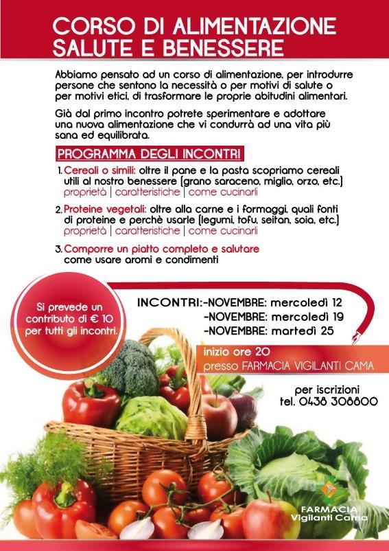 Corso di cucina naturale salute e benessere