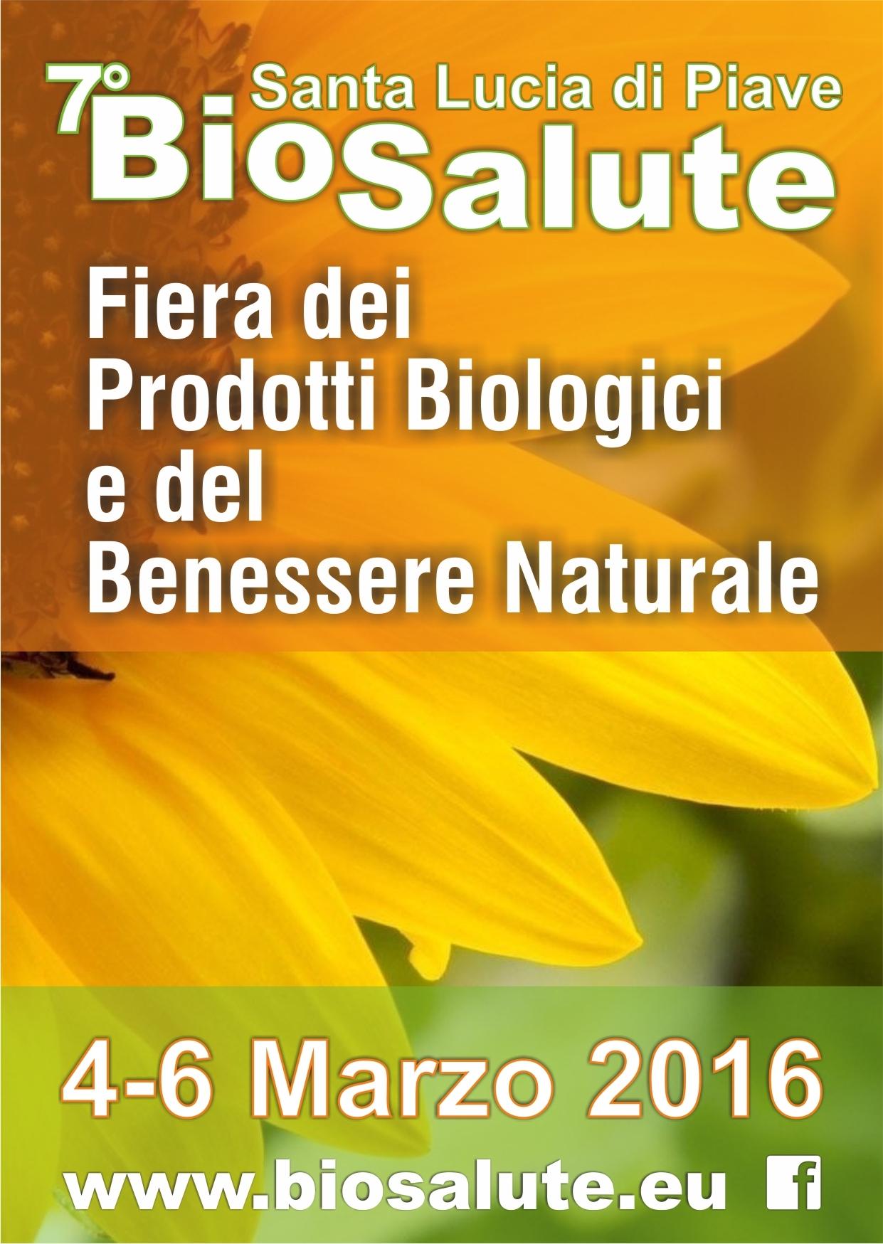 Dal 4 al 6 marzo siamo in fiera Biosalute a Santa Lucia di Piave (TV)